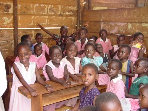 classroom with children