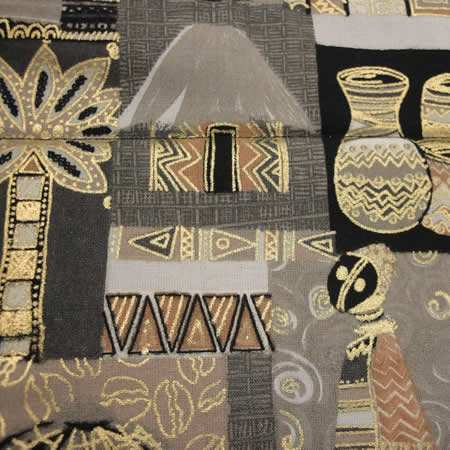 Superb Beige Bold African Print Table Runner