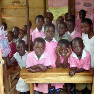 Classroom full of children
