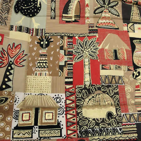 Charmant Brown Bold African Tablecloth