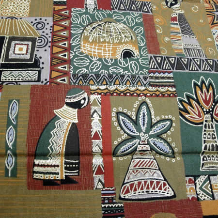 Attirant Green Bold African Print Table Runner